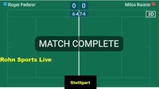 FEDERER vs RAONIC Live Now - Final Stuttgart 2018 - Score