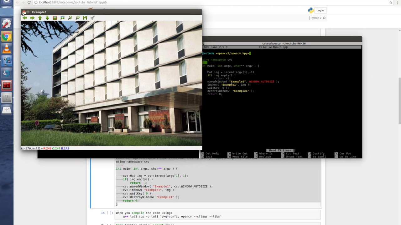 Opencv Examples Linux - Developing Vision Applications using