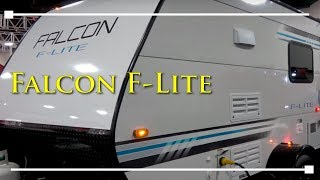 2018 Travel Lite Falcon Travel Trailer - RVingPlanet.com First Look at New RV