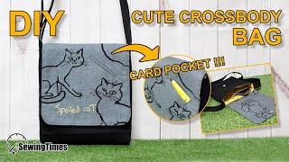 DIY Cute Crossbody Bag | 크로스백 가방만들기 | Small messenger bag tutorial | Simple bag designs[sewingtimes]