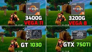 Ryzen 5 3400G (Vega 11) vs 3200G (Vega 8 GT) 1030 vs GTX 750 ti - 11 Games Tested