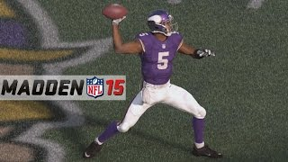 Madden 15 Gameplay (Xbox One): Browns vs Vikings 1st Half (Touchdown Teddy vs Johnny Football)