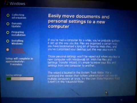 Installing Windows XP in Virtual PC Part 2