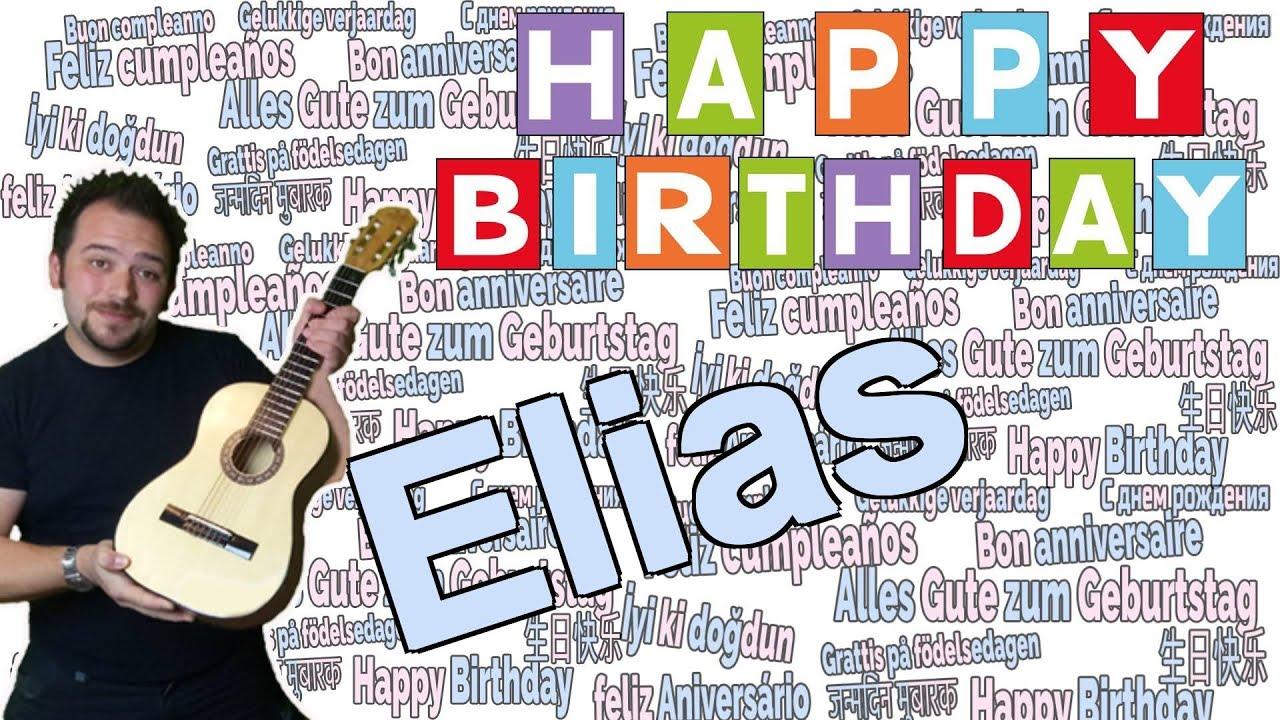 Happy Birthday Elias Spiralblock Von Pm Names Glucklicher