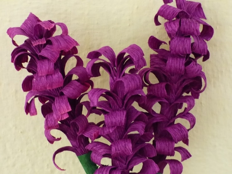 How to make crepe paper hyacinth flower-DIY