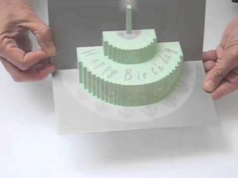 carte gateau anniversaire - YouTube