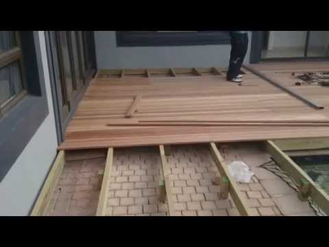Building a wooden deck in Bradley Place, Hillcrest, Durban
