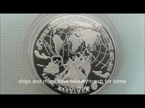 SILVER RUSSIA COMMEMORATIVE geographic 1993 world voyage