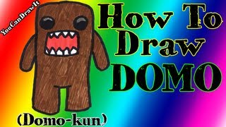 How To Draw Domo ✎ Domo-kun ✎ YouCanDrawIt ツ 1080p HD