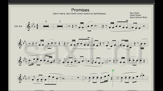 Baixar Calvin Harris, Sam Smith - Promisis (Sheet music and Backing track for saxophone) Syntheticsax cover