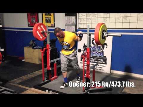 Jason Manenkoff (165 Class) RUM Prep 230 kg/ 507 lbs Squat