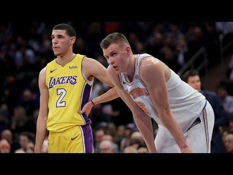 Porzingis 37 Pts 5 Blks! Lonzo Ball Disses Nas in NY! Lakers vs Knicks 2017-18 Season