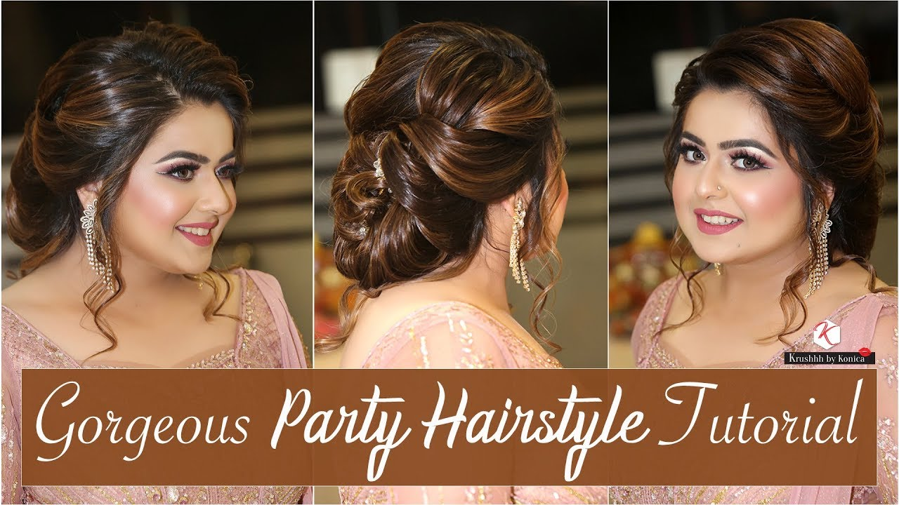 Simple Party Hairstyles Step By Step Party Hairstyle Tutorial Hair Updo Krushhh By Konica Youtube