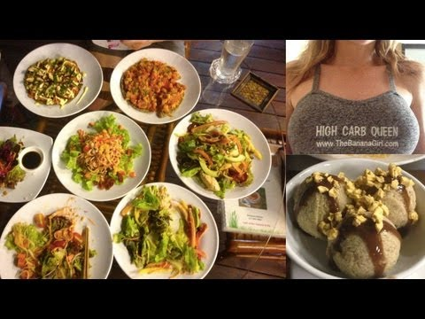 The Best fully raw vegan restaurant in the World! & my veg embroidery