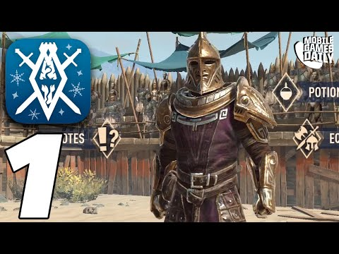 THE ELDER SCROLLS BLADES Arena Gamelay #1 (iOS Android)