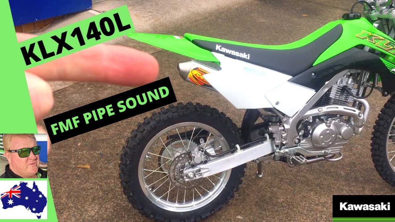 klx140l fmf pipe sound and ride