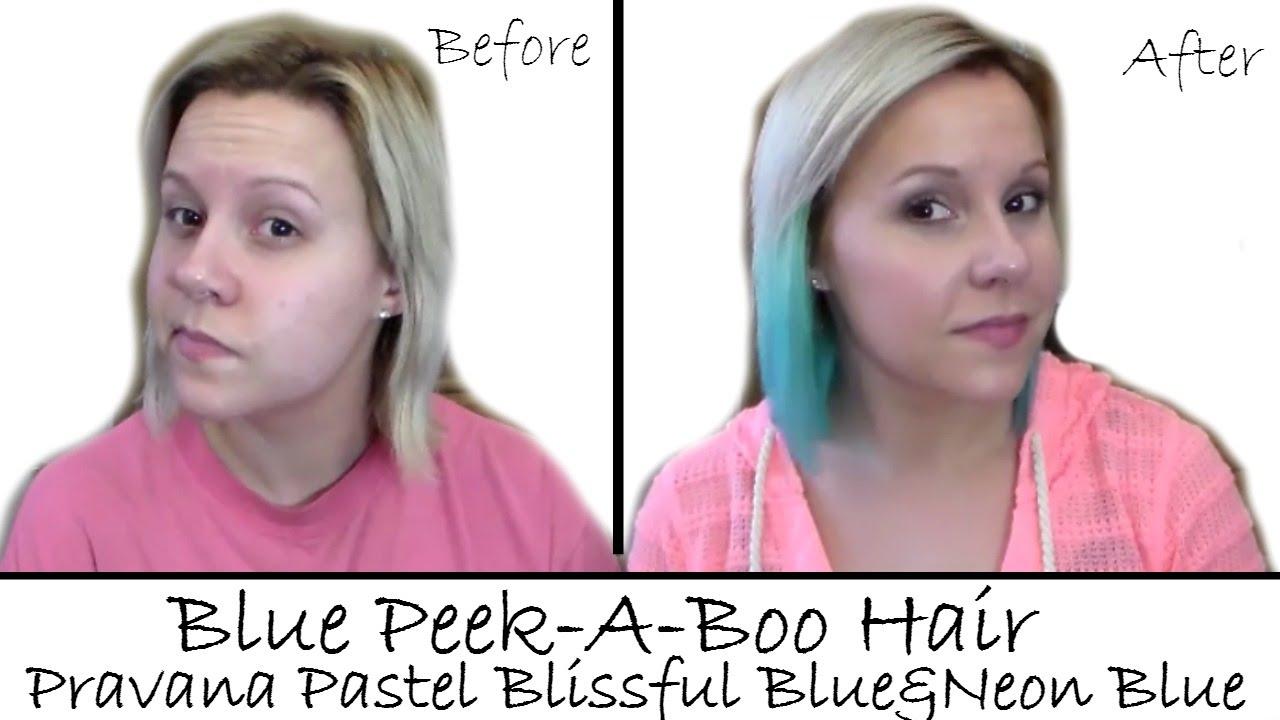 Pravana Neon Blue And Pastel Blissful Bluepeek A Boo Hair Color