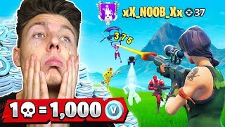 1000 V-Bucks pro Kill Turnier à Fortnite!