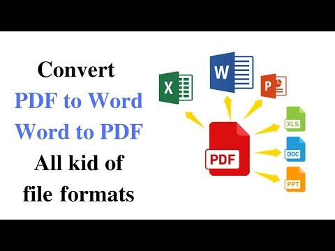 How To Convert PDF Files To MS Word, Doc, Without Software |pdf To All Kind File Format|