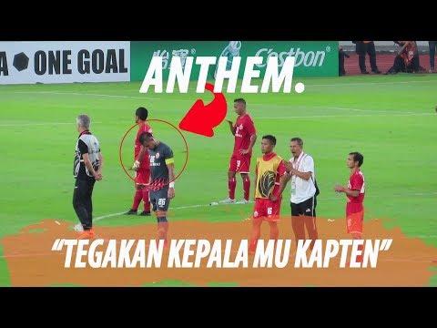TEGAKAN KEPALA MU KAPTEN ANTHEM PERSIJA VS CERES NEGROS  AFC 2019