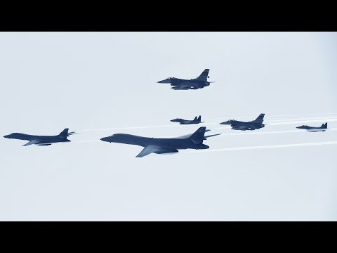 US Air Force B-1 Bombers Fly Near North Korean Border And East China Sea In Show Of Force