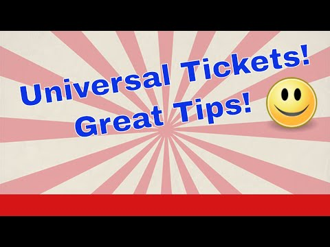 Buying Universal Orlando Tickets! Tips & Tricks!