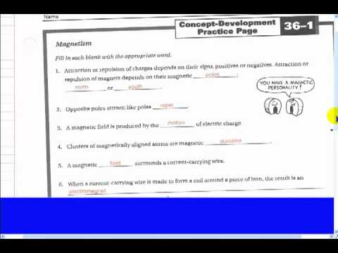 Worksheet 36 1 Magnetism - YouTube
