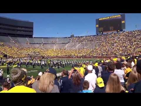 University of Michigan Wolverines Entering The Big House Ann Arbor Michigan