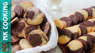 МРАМОРНОЕ Ванильно - Шоколадное Печенье ♥ 2 Способа ♥ Рецепты NK cooking