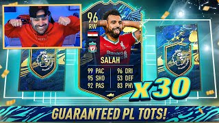 OMFG I PACKED SALAH!! 30x GUARANTEED EPL TOTS PACK! FIFA 21 Ultimate Team