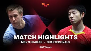 Xu Xin vs Mattias Falck | WTT Macao Quarterfinals HIGHLIGHTS