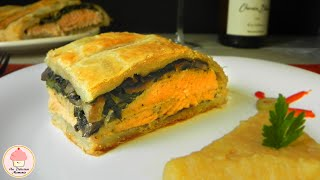 Salmón Al Horno Envuelto En Pasta Hojaldre / Baked Salmon Wrapped In Puff Pastry