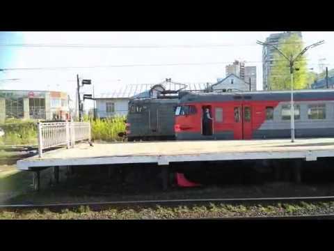 ЭР2К-930 на Пискаревке в 8 вагонов