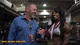 2019 Olympia Women's Physique Winner Shanique Grant After Show interview with Tony Doherty.