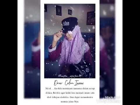 Literasi 30 Detik Dear Calon Imam Hijrah Cinta Youtube