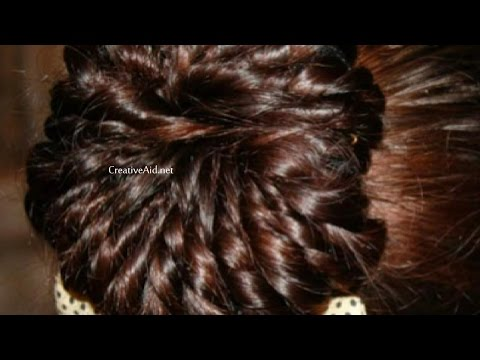 Easy Way To Make An Elegant Bun Hairstyle In Five Minutes