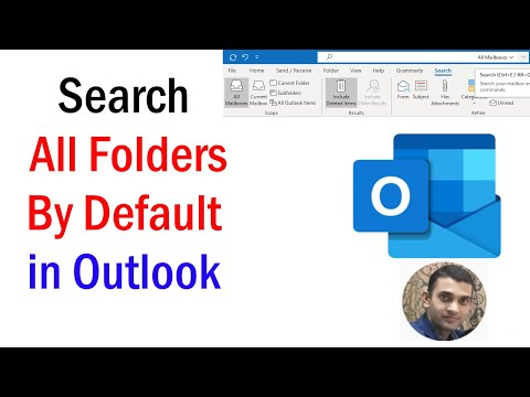 How To Change The Default Search Location in Outlook | How to Search all Mailboxes in Outlook