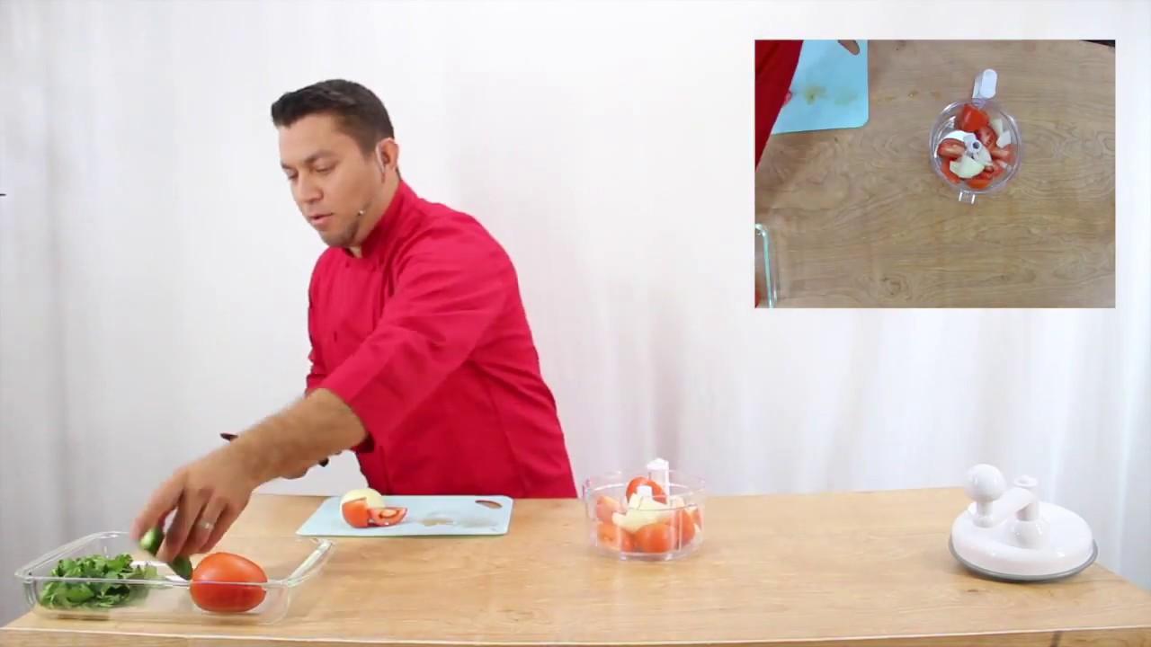Miracle Kitchen Plus. Como hacer salsa Pico de Gallo. Fresh Pico de ...