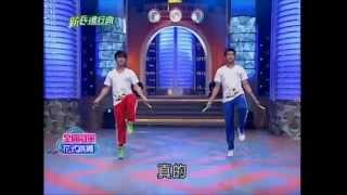 20101228新兵進行曲雙人跳繩表演-劉文雄&黃孟元
