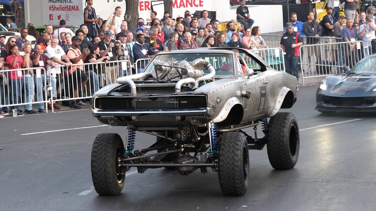 Image result for 1968 Rat Rod Supercharged Dodge Charger at SEMA!