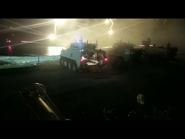Mowag 30 night fire with UN