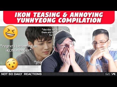 NSD REACT TO IKON 'Teasing & Annoying Yunhyeong Compilation (basically What IKON Does 24/7)'