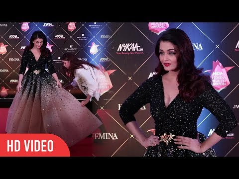 Gorgeous Aishwarya Rai Bachchan at Nykaa FEMINA Beauty Awards 2018