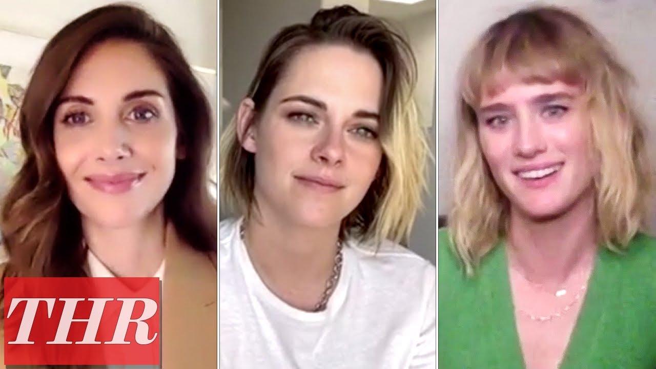 The Happiest Season Cast: Mackenzie Davis, Kristen Stewart, Alison Brie | THR Interview