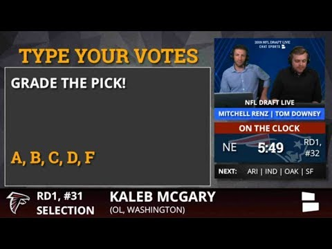 Falcons Trade With Rams For Pick #31 And Select OL Kaleb McGary From Washington In 2019 NFL Draft