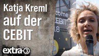Reporterin Katja Kreml auf der Cebit