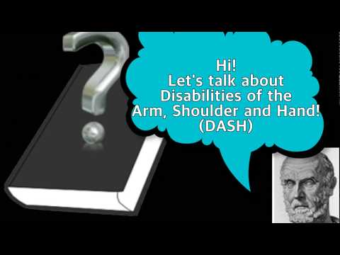 [Hippo] What Is Disabilities Of The Arm, Shoulder And Hand (DASH)??