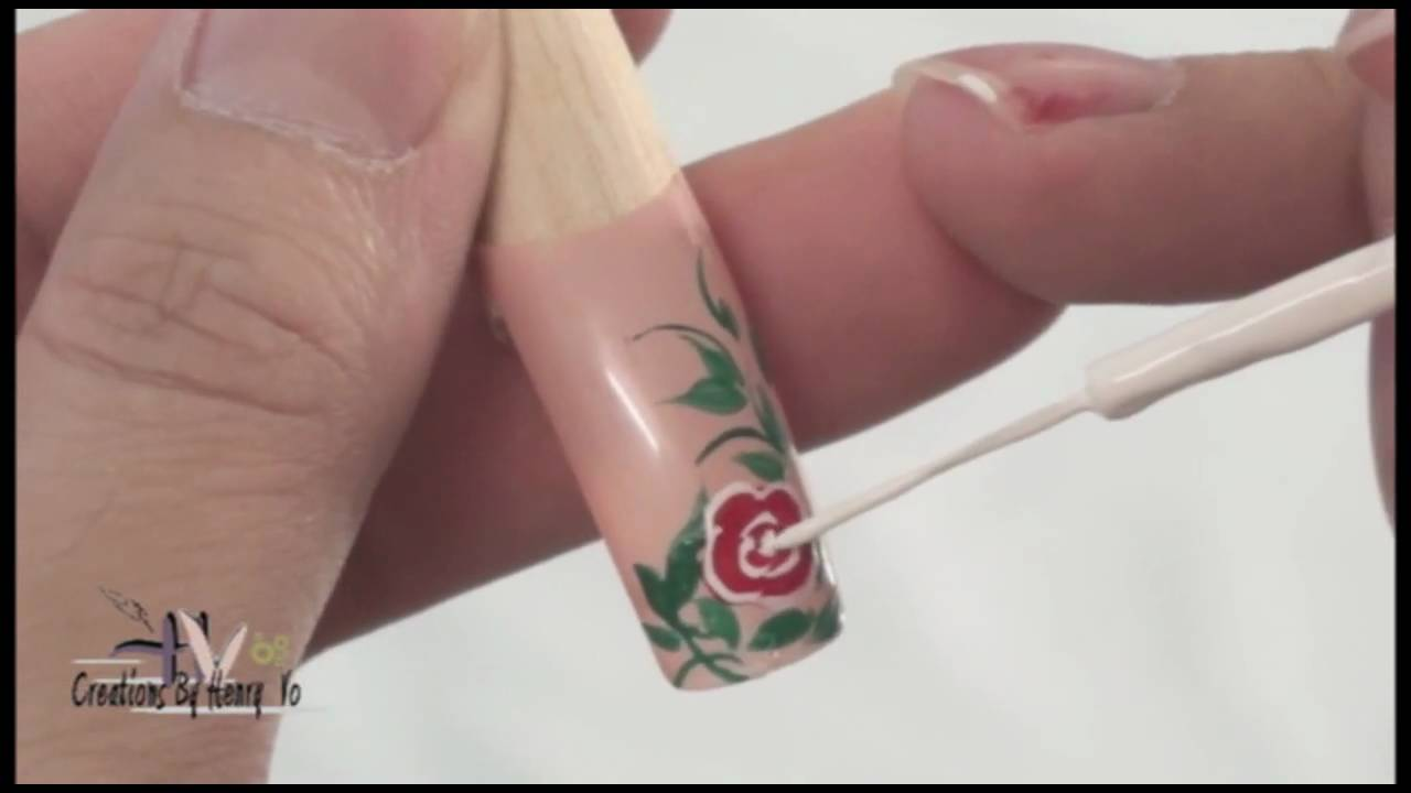 Learning nail artfloral design youtube learning nail artfloral design prinsesfo Image collections