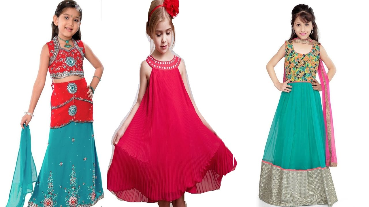 Kids Dresses For Indian Girls || Fashion Week Youtube Videos - YouTube