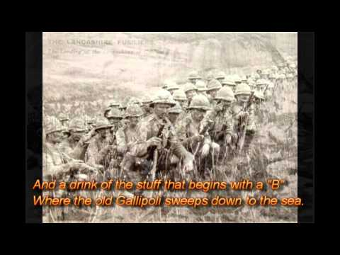 Lancashire Fusiliers Gallipoli Song Karaoke. tune of 'Mountains of Mourne'